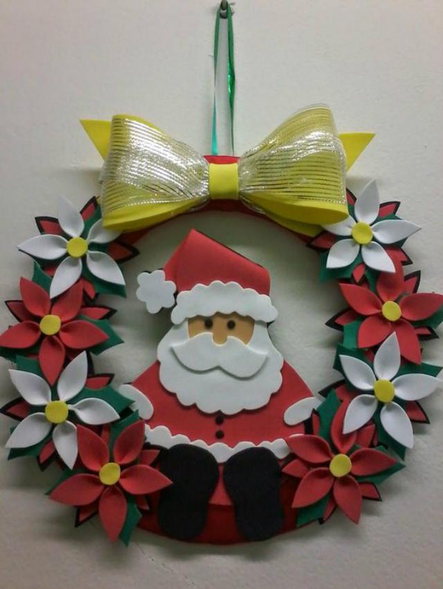 corona de navidad en EVA