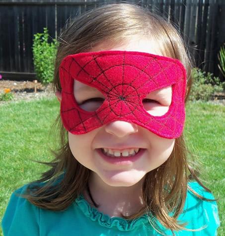 máscara de fieltro de Spiderman