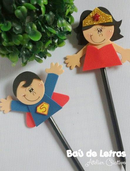 Puntas de lápiz de superhéroe EVA