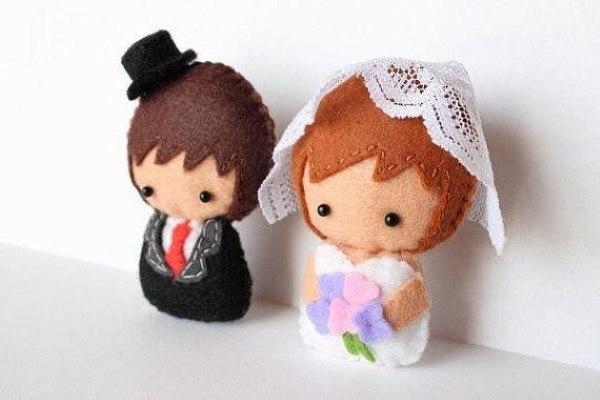 Fieltro favores de la boda