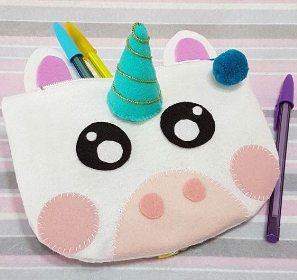 bolsa de fieltro unicornio