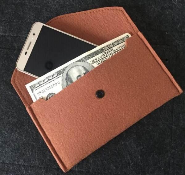 cartera masculina de fieltro