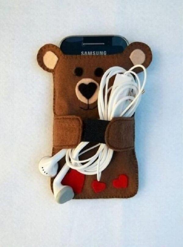 cubierta del teléfono celular de fieltro