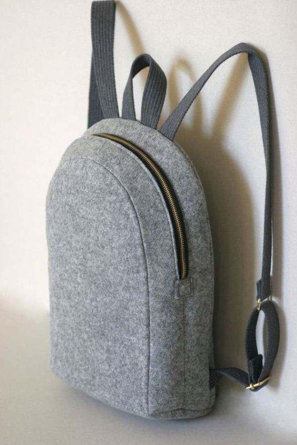 mochila de fieltro