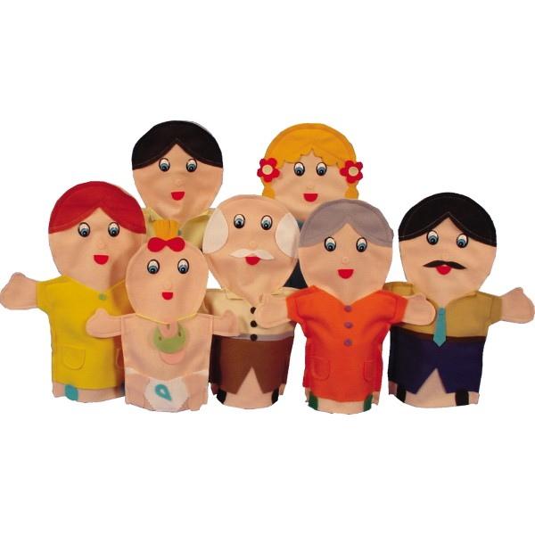 Familia de marionetas blancas