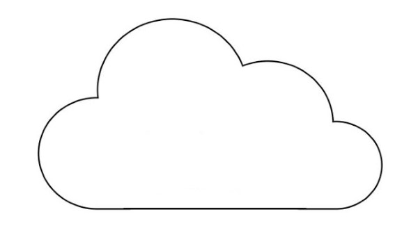 plantilla de nube simple