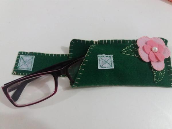 estuche para gafas de velcro