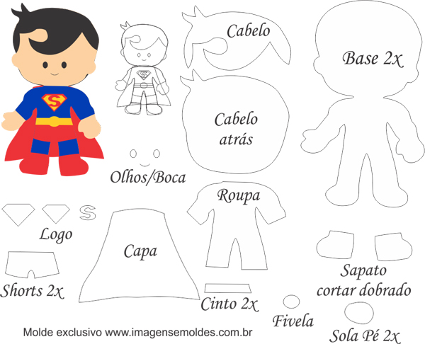 superhéroes en fieltro superman