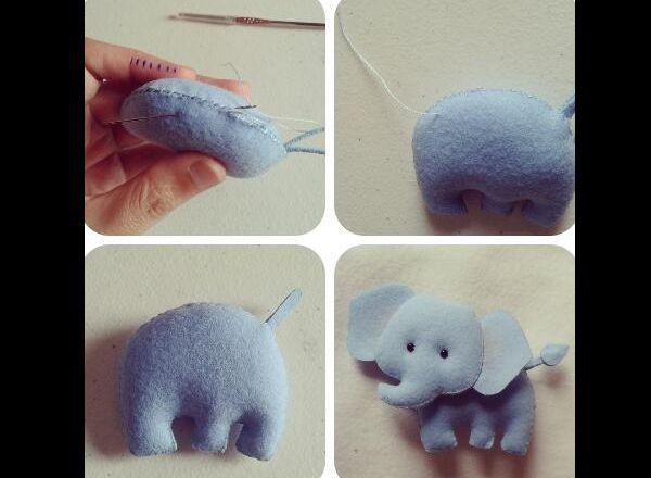 manualidades de fieltro de elefante