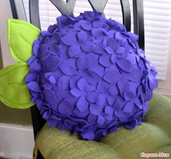 fieltro artesanía cojín de flores