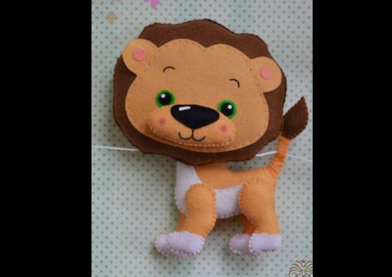 fieltro animales león
