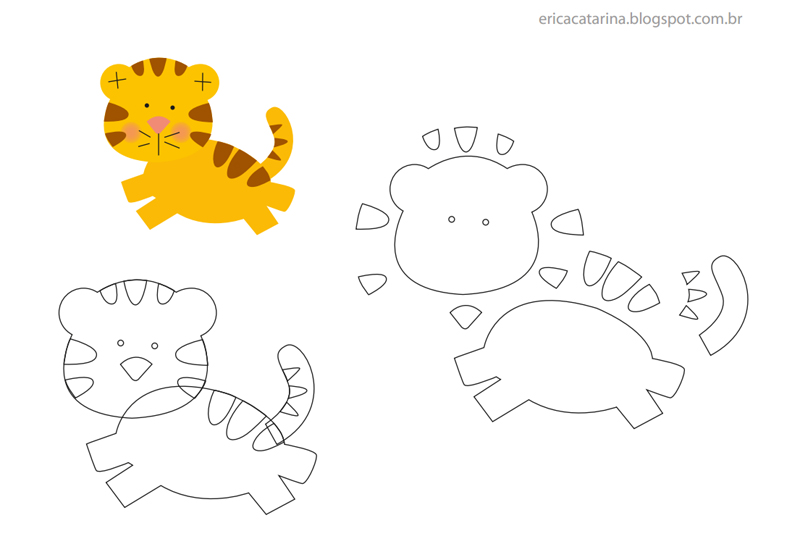 tigre sintió animales