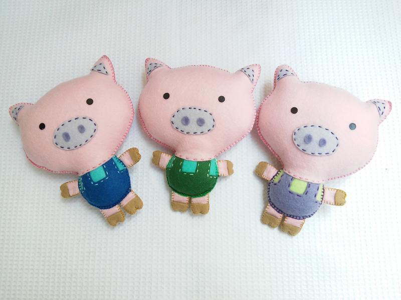 fieltro animales cerdos