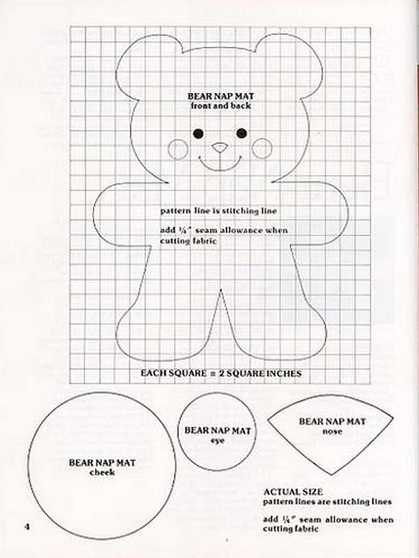 oso de peluche molde con fieltro entero