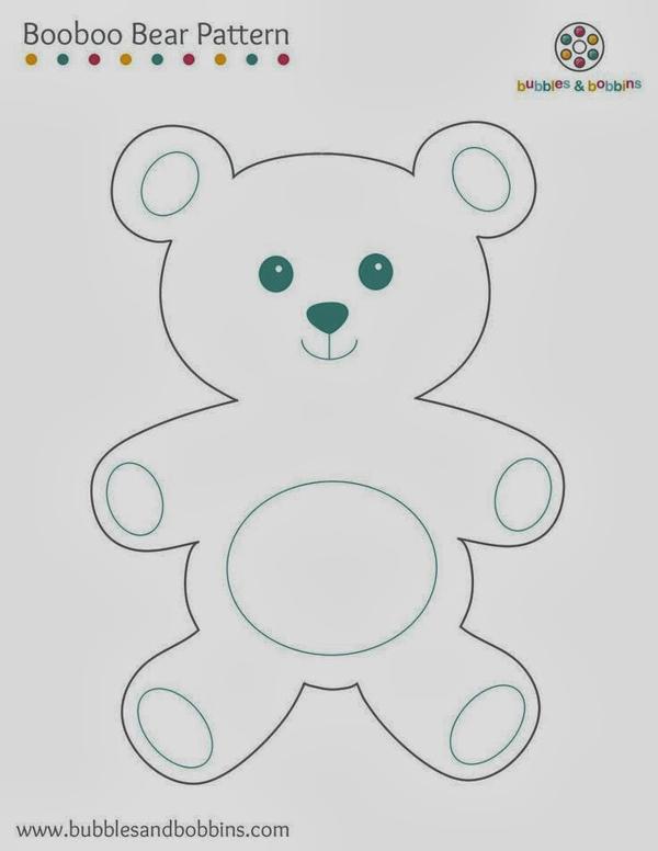 oso de peluche molde con fieltro