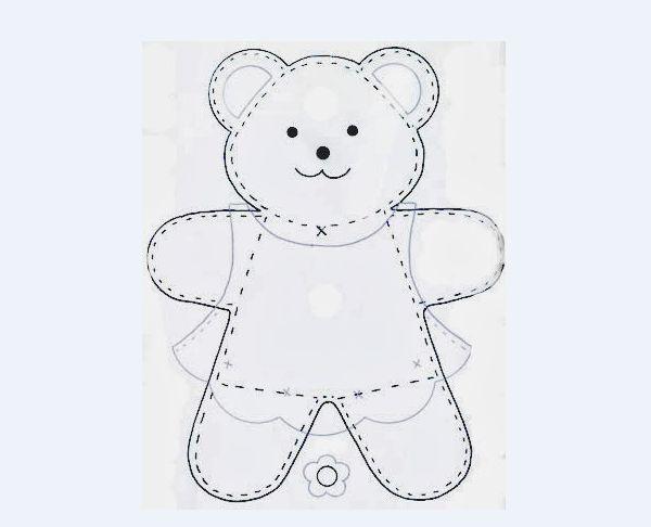 molde de oso de peluche de fieltro unisex