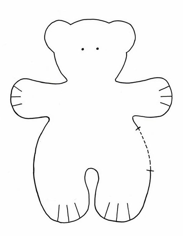 oso de peluche molde con fieltro graso