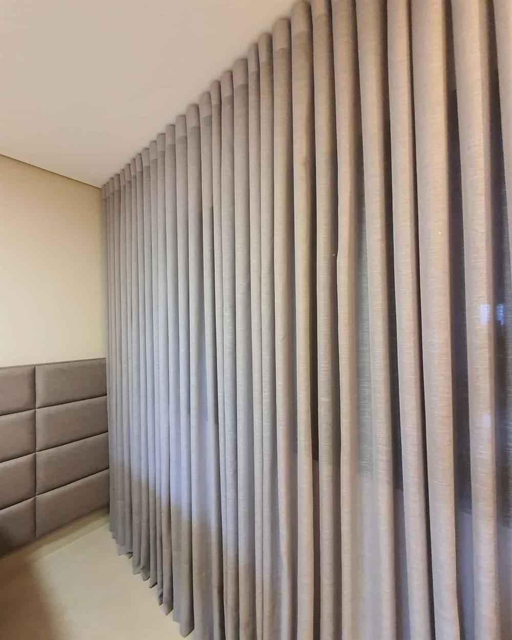 cortina para decorar la habitación