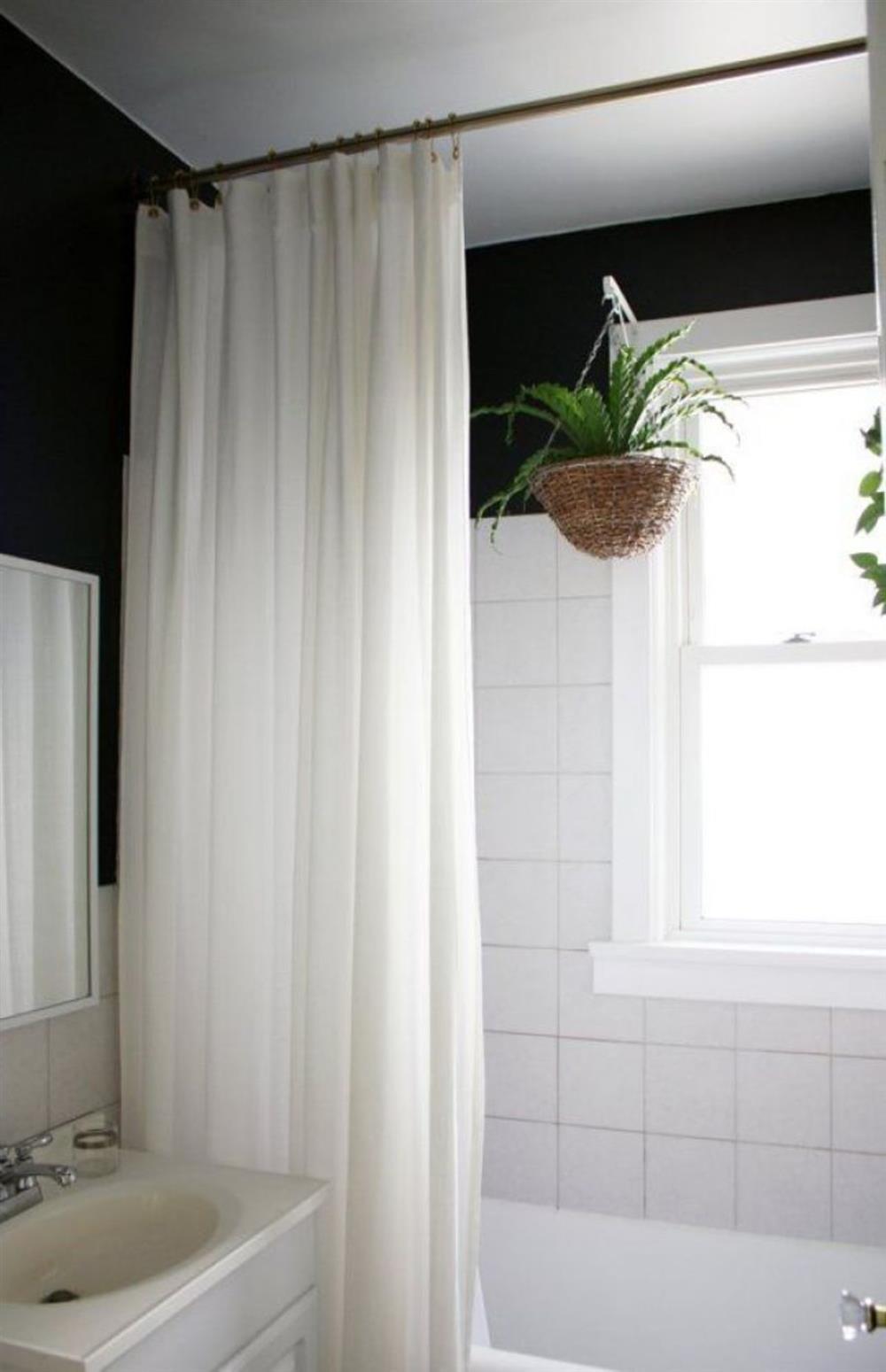 cortina de ducha de tela