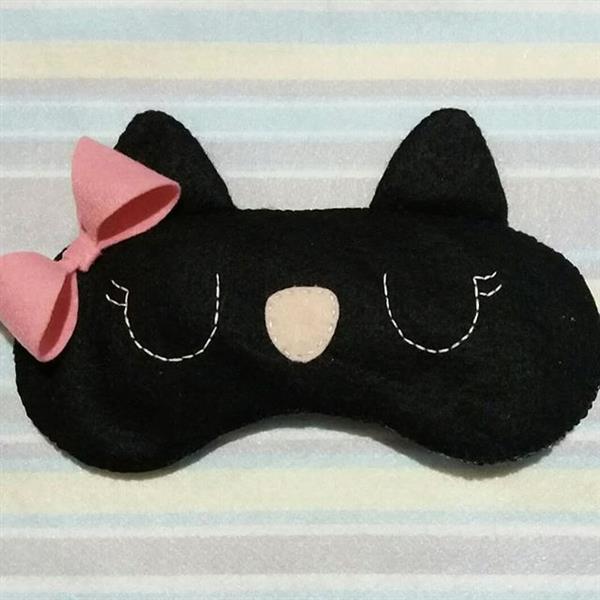 máscara de dormir gatito