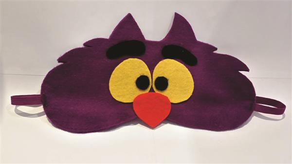 máscara de dormir-gato-temático-de-alice-parche-ojo