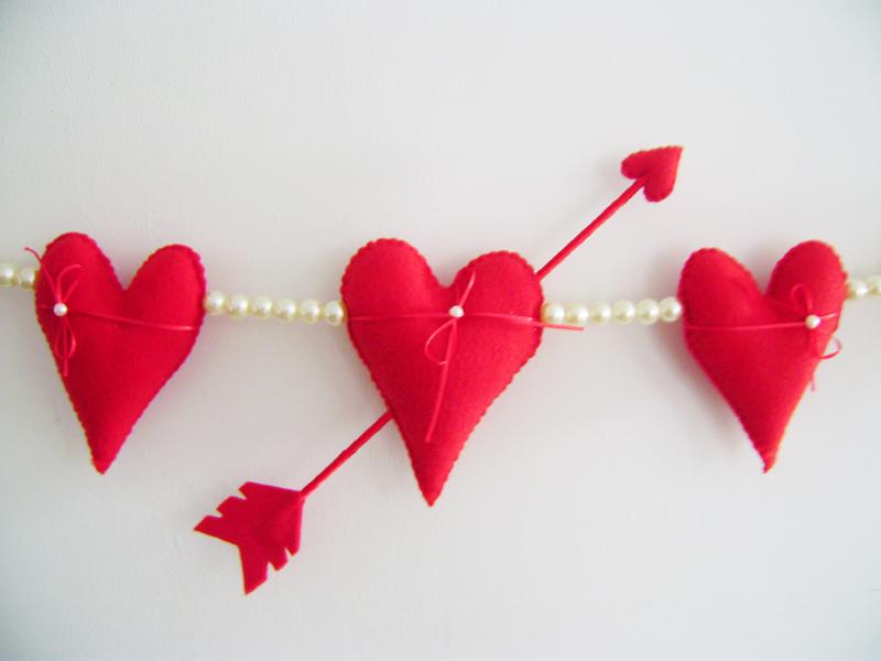 Consejos para manualidades de fieltro de San Valentín
