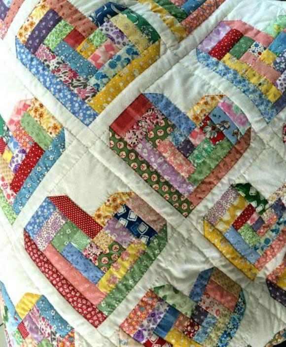Cómo hacer colcha de corazón de patchwork