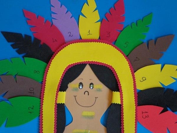 artesanía indígena con eva