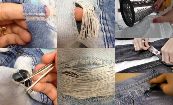 Cómo desentrañar jeans