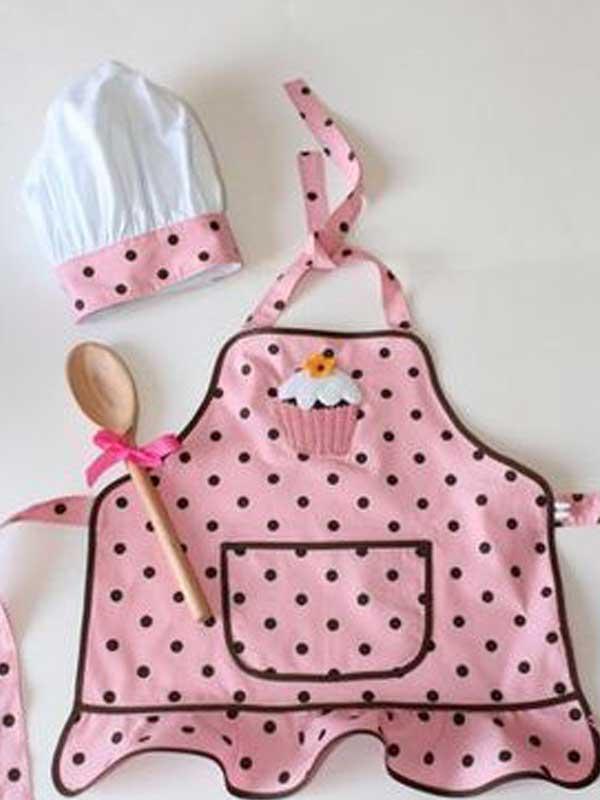 Plantilla de delantal de cocina para niños