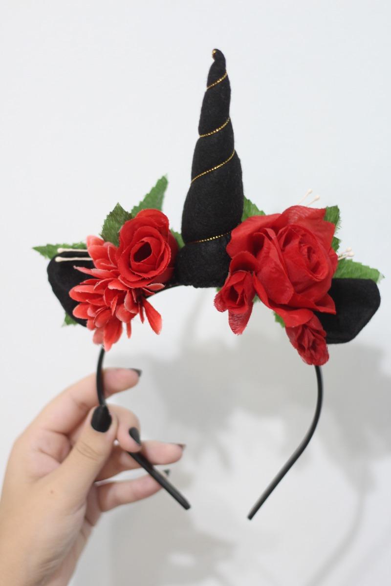 tiara de unicornio con rosas