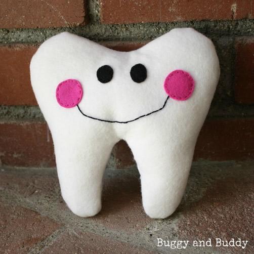 diente de fieltro con molde