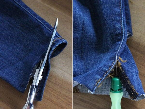Desatar el dobladillo de los pantalones