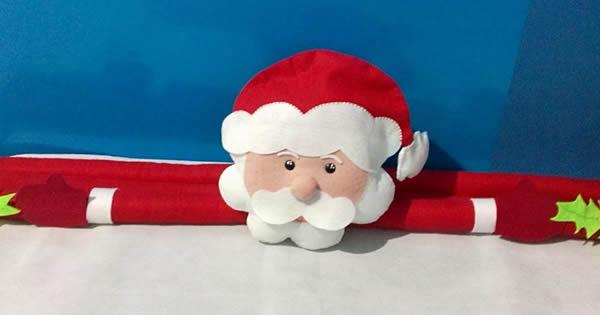 protector de puerta de navidad paso a paso