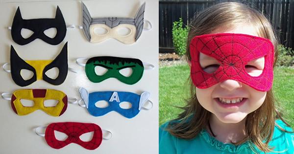 Máscaras de fieltro de superhéroe paso a paso