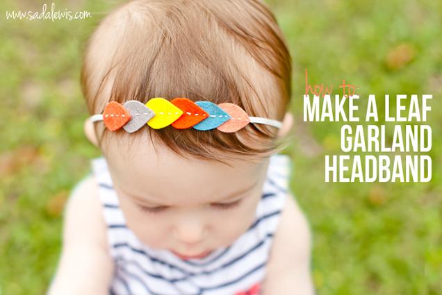 tiara de fieltro para niños