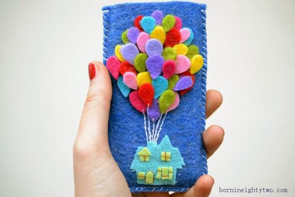 Caja del teléfono celular de fieltro