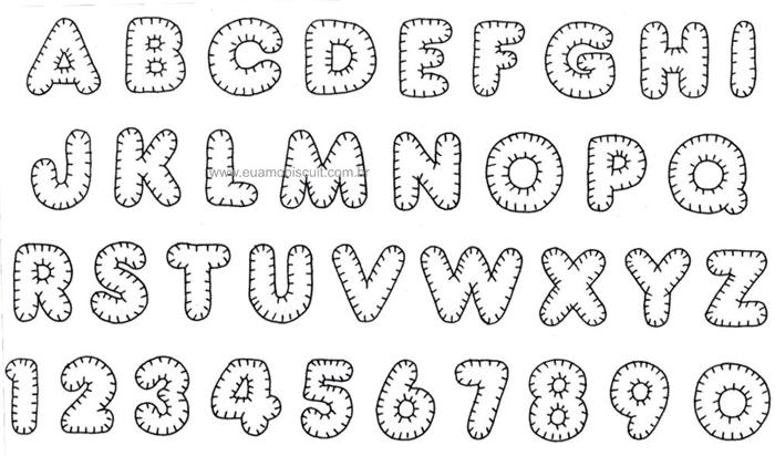 alfabeto letra fieltro llavero