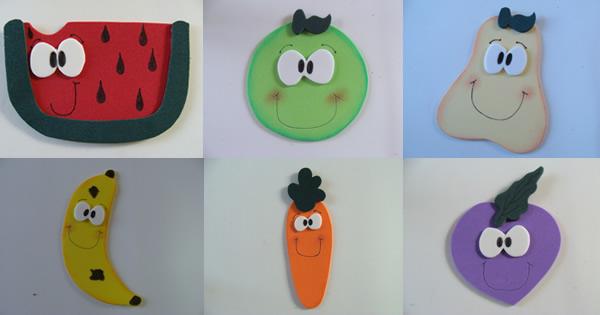frutas y verduras en eva