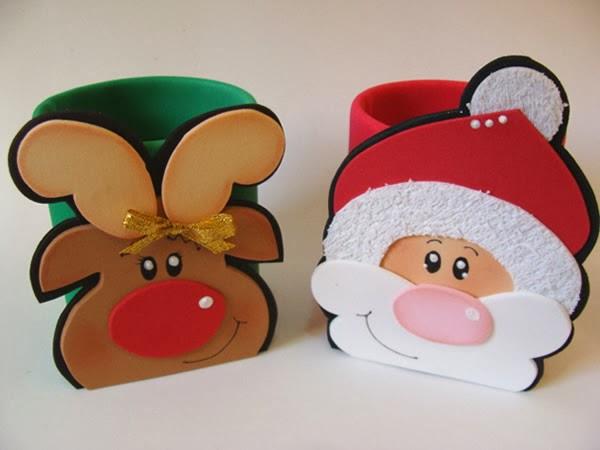 Santa Claus y renos de EVA