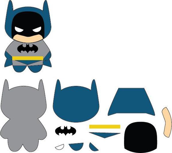 superhéroes en fieltro batman