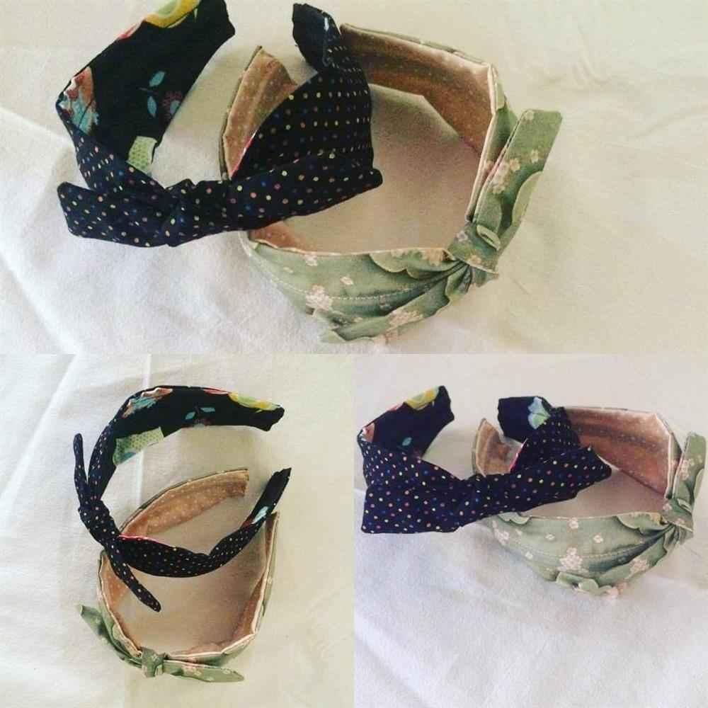 pajarita tiara de tela