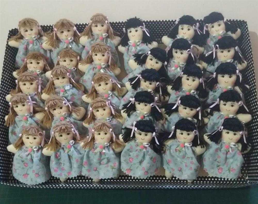 muñeca de trapo-llavero-llavero