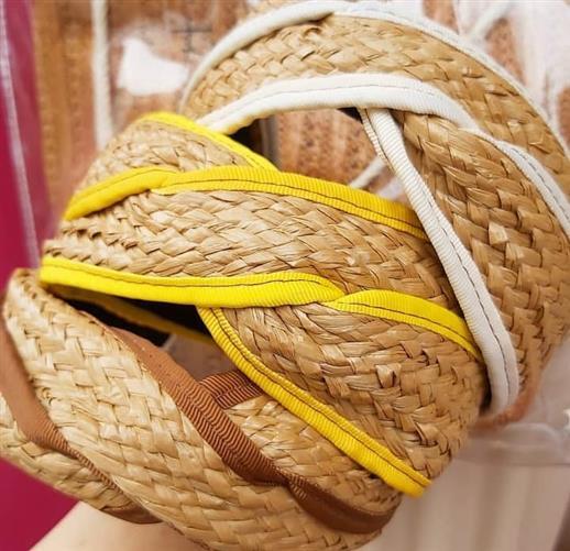 turbante de paja tiara