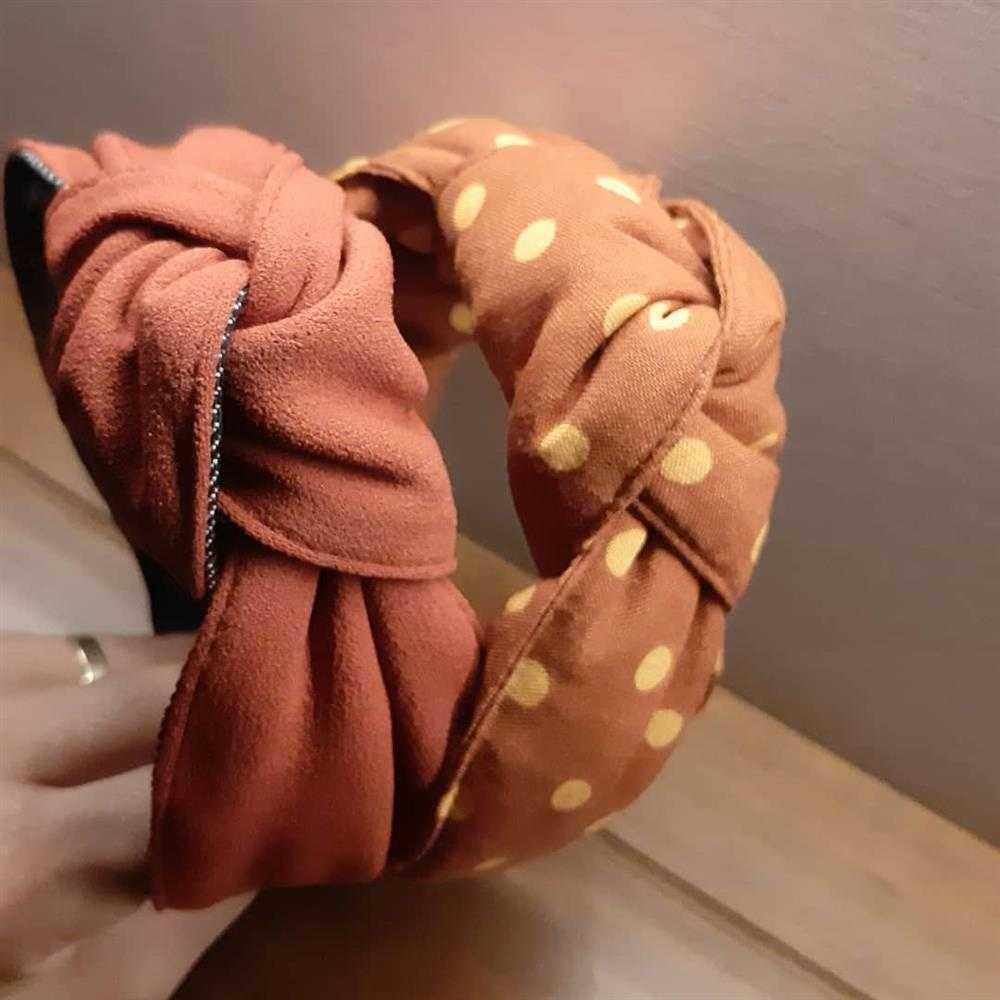 tiara de turbante en polvo