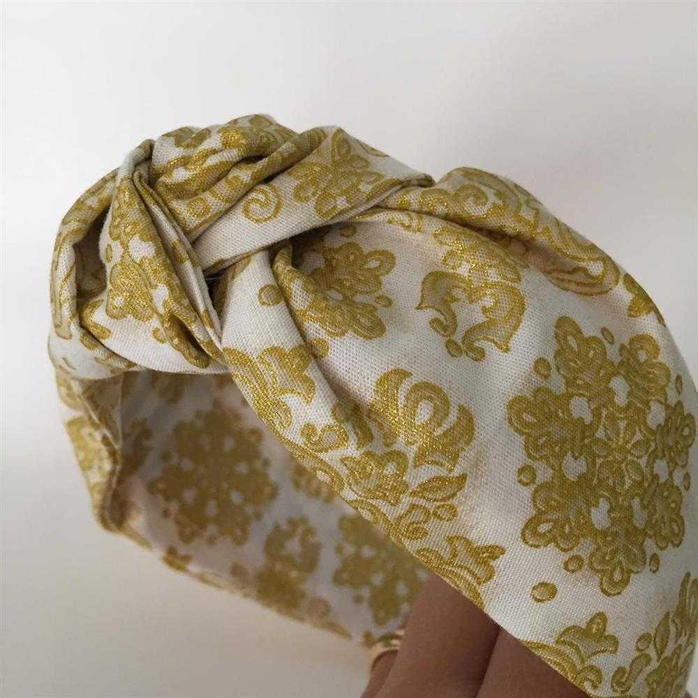 turbante impreso tiara