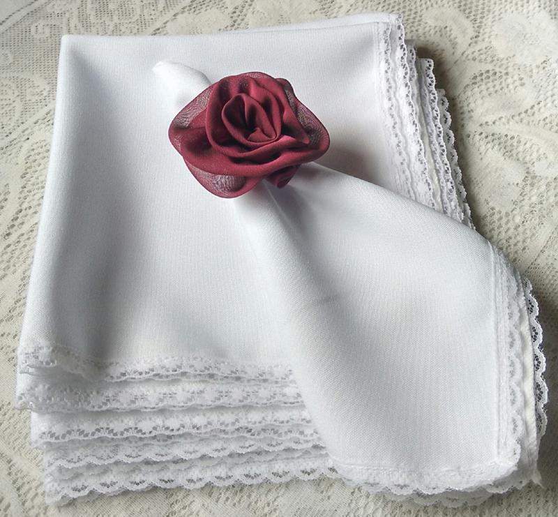 servilleta con tela con pico