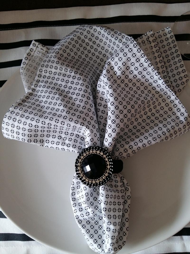 servilleta con tela estampada