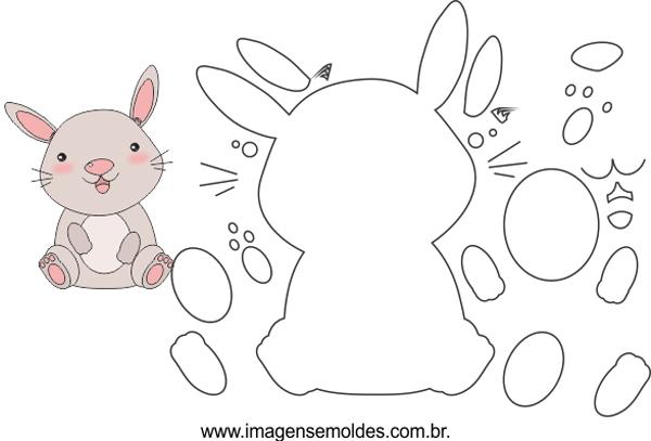lindo molde de conejo
