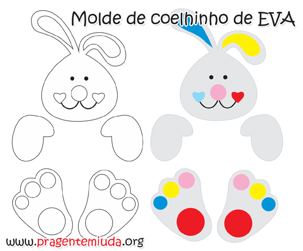 molde de conejo simple